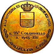 Medal - Military succesess of Colonel Scarpa in Albania – obverse