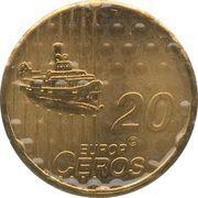 20 Europ Ceros (Faroe Islands Euro Fantasy Token) – reverse