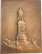 Plaquette - Inauguration of the statue of Henri Dupuy de Lôme – reverse