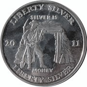 1 oz silver - Liberty Silver (Silver Is Money) – obverse
