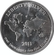 1 oz silver - Liberty Silver (Silver Is Money) – reverse