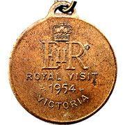 Medal - Elizabeth II (Royal Visit 1954; Victoria) – reverse