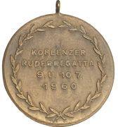 Award medal - Koblenz rowing regatta – reverse