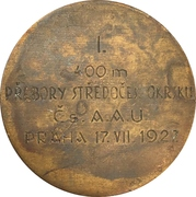 Prize medal - 400m Track and field – reverse