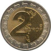 2 Europ (Faroe Islands Euro Fantasy Token) – reverse
