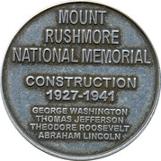 Token - Mount Rushmore National Memorial – reverse