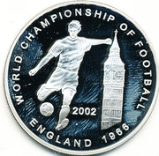 500 Sika - Elizabeth II (World Cup Soccer 2002 - England 1966) – reverse