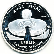 500 Sika - Elizabeth II (World Cup Soccer 2006 - Olympic Stadium Berlin) – reverse
