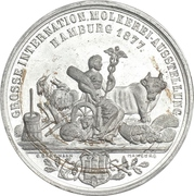 Medal - International dairy exhibition (Hamburg) – obverse