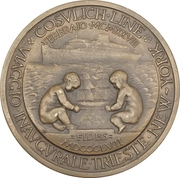 Medal - Cosulich Line -  reverse