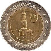 2 (Germany Euro Fantasy Token; Hamburg) – obverse