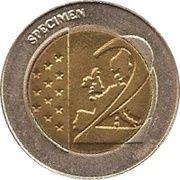 2 (Germany Euro Fantasy Token; Hamburg) – reverse