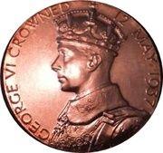 Medallion - King George VI and Queen Elizabeth Coronation – obverse