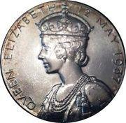 Medallion - King George VI and Queen Elizabeth Coronation – reverse