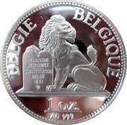 1 oz Silver - Albert II – reverse