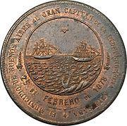 Medal - José de San Martín (Buenos Aires) – reverse