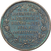 Medal - Constitution of Buenos Aires – reverse
