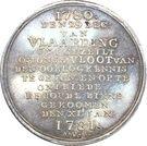 Medal - Escape of the Dutch fleet to Vlaarding – reverse