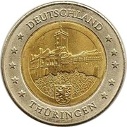 2 (Germany Euro Fantasy Token; Thüringen) – obverse