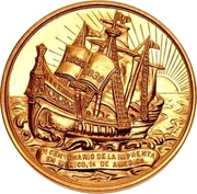 Medal - Quadricentennial of Printing in Mexico – obverse