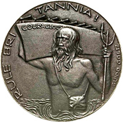 Medal - Sinking of the aircraft carrier Courageous – obverse