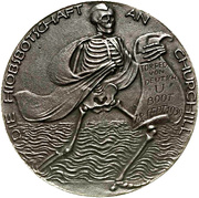 Medal - Sinking of the aircraft carrier Courageous – reverse