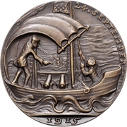 Medal - The sinking of 'U.41' by Q-ship 'Baralong' – reverse