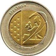 2 (Germany Euro Fantasy Token; Thüringen) – reverse