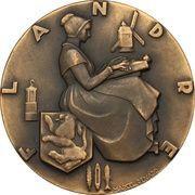 """Medal - Compagnie Generale Transatlantique """"Flandre"""" – reverse"""