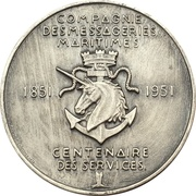 Medals - 100th anniversary Compagnie des Messagerie Maritimes – obverse