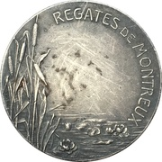 Medal - Rowing regatta in Montreux – reverse