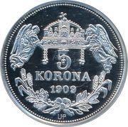 5 Korona (Stephanus III) – reverse