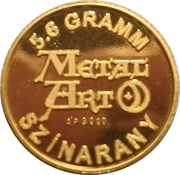 5.6 Grams Gold (Metal Art) – reverse