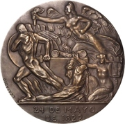 Medal - Centenary of the Battle of Pichincha – reverse