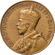 Medal - George V (Falkland Islands Centenary) – obverse