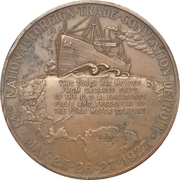 Medal - 1927 Detroit 14th National Foreign Trade Convention – obverse