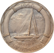 Medal - Opening of the new yacht harbour – reverse