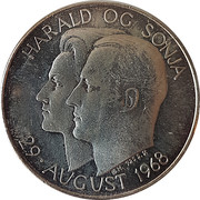 Medal - Harald and Sonja wedding – obverse