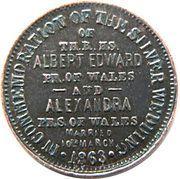 Token - Albert and Alexandra (Silver Wedding Anniversary) – reverse