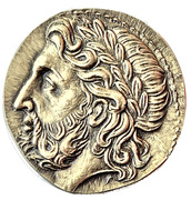 Reproduction Medal - Tetradrachm Philippe II; Macedonia – obverse