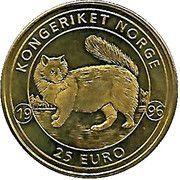 25 Euro - Harald V (Norwegian Forest Cat) – reverse