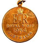 Medal - Elizabeth II (Royal Visit 1954) – reverse