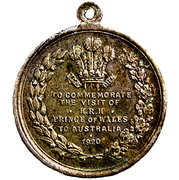 Medal - Welcome Edward, Prince of Wales to Australia (Royal Visit 1920) – reverse