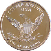 1 oz copper (Old Ironsides) – reverse