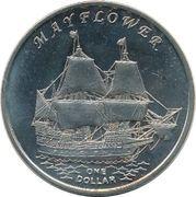 1 Dollar (Mayflower) – reverse