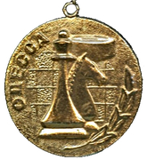 Medal - Odessa Chess and checkers club of trade unions (Ukraine) – obverse