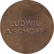 Medal - Medicina in nummis Bronze (Ludwig Aschoff) – reverse