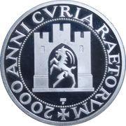 2000 years of Raetorum court Commemorative Medallion – reverse