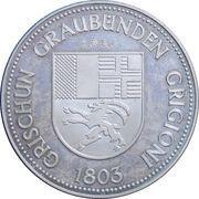 District of Chur Switzerland medallion – reverse