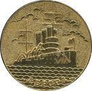 Medal - 70th Anniversary of Great Socialist October Revolution (Cruiser Aurora) – obverse